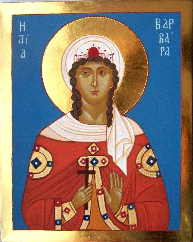 Ikona Świętej Barbary