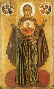 Matka Boża Orantka (Wielka Panagia, Orantka Jarosławska). Rosja, XIII wiek.