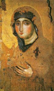Ikona Madonny Hogiritissa. Zdjęcie pochodzi ze strony piccoloreremodellequerce.it