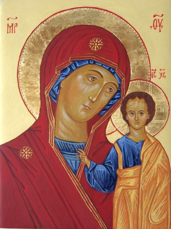 Chwalebne ikona Matki Boskiej Kazańskiej - Pracownia IKON Imago Dei ER47